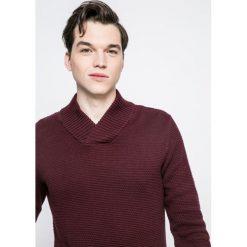 Produkt by Jack & Jones - Sweter. Brązowe swetry przez głowę męskie PRODUKT by Jack & Jones, z bawełny. W wyprzedaży za 49.90 zł.