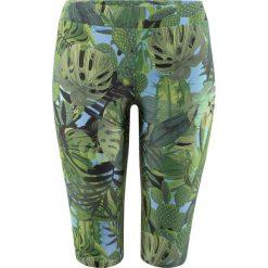 Legginsy kąpielowe bonprix zielony z nadrukiem. Zielone legginsy damskie bonprix, z nadrukiem. Za 79.99 zł.