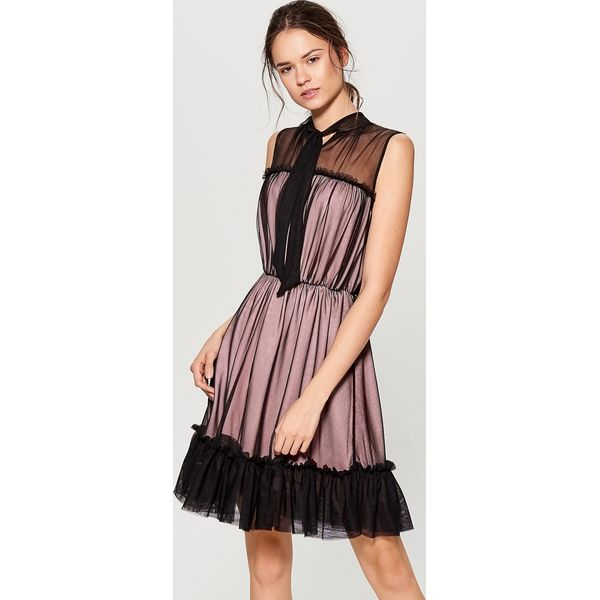 ba5099a0b1 Tiulowa sukienka falbaną czarny sukienki damskie marki mohito jpg 600x600 Tiulowa  sukienka