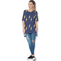 Colour Pleasure Koszulka CP-033 113 granatowo-żółta   r. uniwersalny. T-shirty damskie Colour Pleasure. Za 76.57 zł.