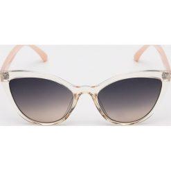 Okulary przeciwsłoneczne Sinsay Okulary damskie białe