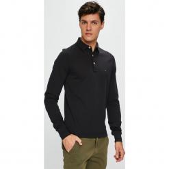 Tommy Hilfiger - Longsleeve. Czarne bluzki z długim rękawem męskie Tommy Hilfiger, z bawełny, polo. Za 359.90 zł.
