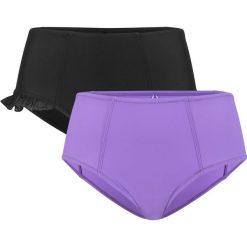 Figi bikini shape (2 pary) bonprix czarny-lila. Bielizna wyszczuplająca marki bonprix. Za 89.98 zł.
