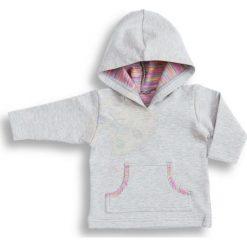 Bluza z kapturem Pink szaro-różowa r. 86 (DU-137). Bluzy dla niemowląt marki bonprix. Za 41.53 zł.