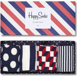 Happy Socks - Skarpety Giftbox (4-pack). Szare skarpety męskie Happy Socks, z bawełny. W wyprzedaży za 99.90 zł.