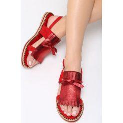 Czerwone Sandały Cosmic Splash. Sandały damskie marki bonprix. Za 69.99 zł.