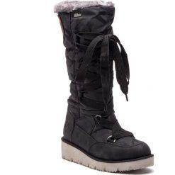 Śniegowce S.OLIVER - 5-26614-31 Black 001. Czarne kozaki damskie S.Oliver, z materiału. Za 349.90 zł.