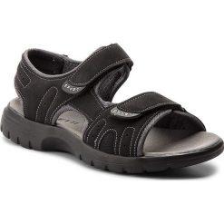 Sandały LANETTI - MS17005-1 Czarny. Czarne sandały męskie Lanetti, z materiału. W wyprzedaży za 59.99 zł.