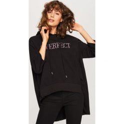 Bluza z kapturem - Czarny. Bluzy damskie marki Reserved. W wyprzedaży za 39.99 zł.