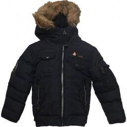 Kurtka zimowa w kolorze granatowym. Niebieskie kurtki i płaszcze dla chłopców Peak Mountain, na zimę, prążkowane. W wyprzedaży za 195.95 zł.