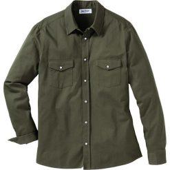 Koszula dżinsowa Slim Fit bonprix ciemnooliwkowy. Koszule męskie marki Giacomo Conti. Za 89.99 zł.