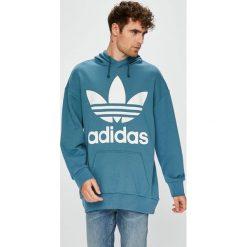 Adidas Originals - Bluza. Niebieskie bluzy męskie adidas Originals, z nadrukiem, z bawełny. W wyprzedaży za 319.90 zł.