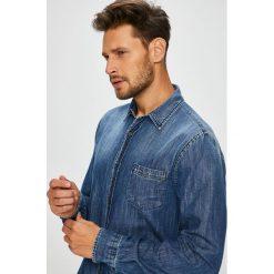 Trussardi Jeans - Koszula. Szare koszule męskie TRUSSARDI JEANS, z bawełny, z klasycznym kołnierzykiem, z długim rękawem. Za 539.90 zł.