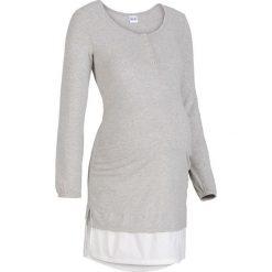 Koszula nocna do karmienia bonprix jasnoszary melanż. Szare koszule nocne damskie bonprix, melanż. Za 59.99 zł.