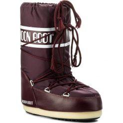 Śniegowce MOON BOOT - Nylon 14004400074 Burgundy M. Śniegowce dziewczęce Moon Boot, z materiału. W wyprzedaży za 229.00 zł.