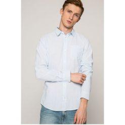 Jack & Jones - Koszula. Szare koszule męskie Jack & Jones, w paski, z bawełny, z klasycznym kołnierzykiem, z długim rękawem. W wyprzedaży za 79.90 zł.