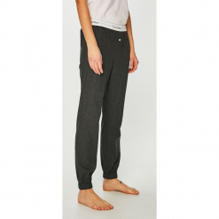 Calvin Klein Underwear - Spodnie piżamowe. Szare piżamy damskie Calvin Klein Underwear, z bawełny. Za 179.90 zł.