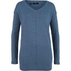 Sweter z dekoltem w serek bonprix indygo. Swetry damskie marki KALENJI. Za 59.99 zł.