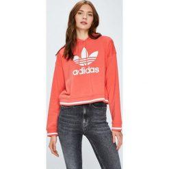 Adidas Originals - Bluza. Różowe bluzy damskie adidas Originals, z nadrukiem, z bawełny. Za 249.90 zł.