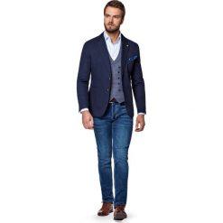 Marynarka Granatowa Antalaya. Niebieskie jeansy męskie LANCERTO, z bawełny. W wyprzedaży za 399.90 zł.