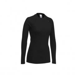 Koszulka narciarska 100 damska. Czarne t-shirty damskie WED'ZE, z materiału. Za 19.99 zł.