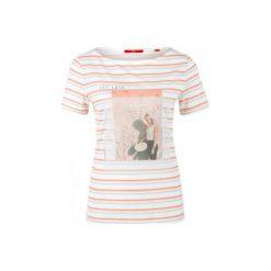 S.Oliver T-Shirt Damski 34 Kremowy. Białe t-shirty damskie S.Oliver. W wyprzedaży za 55.00 zł.