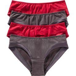 """Figi """"hipster"""" (4 pary) bonprix czerwono-szary. Figi damskie marki KALENJI. Za 27.96 zł."""
