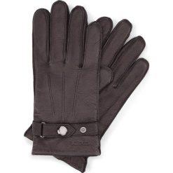 Rękawiczki męskie 44-6-234-1. Brązowe rękawiczki męskie Wittchen, w paski, z nylonu. Za 99.00 zł.