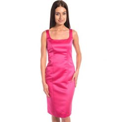 Różowa sukienka na ramiączkach BIALCON. Czerwone sukienki damskie BIALCON, wizytowe, na ramiączkach. W wyprzedaży za 143.00 zł.