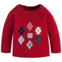 Sweter w kolorze czerwonym. Swetry dla chłopców marki Reserved. W wyprzedaży za 74.95 zł.