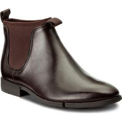 Sztyblety CLARKS - Daulton Up 261268807 Dark Brown Leather. Brązowe botki męskie Clarks, z materiału. W wyprzedaży za 309.00 zł.