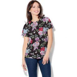 Colour Pleasure Koszulka CP-030  7 czarno-pudrowy róż r. XL/XXL. T-shirty damskie Colour Pleasure. Za 70.35 zł.