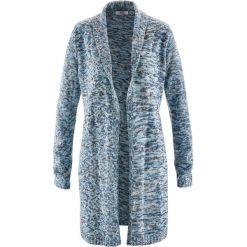 Długi sweter rozpinany, długi rękaw bonprix szaroniebieski melanż. Kardigany damskie marki bonprix. Za 49.99 zł.