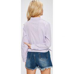 Answear - Koszula. Szare koszule damskie ANSWEAR, z poliesteru, casualowe, z długim rękawem. W wyprzedaży za 49.90 zł.