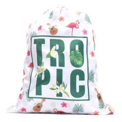 Kremowy Plecak The Tropics. Białe torby i plecaki dziecięce Born2be, z tkaniny. Za 19.99 zł.
