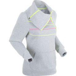 Bluza rozpinana, długi rękaw bonprix jasnoszary melanż. Bluzy damskie marki KALENJI. Za 79.99 zł.