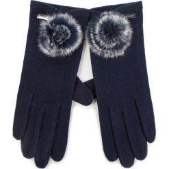 Rękawiczki Damskie WITTCHEN - 47-6-101-7 Granatowy. Niebieskie rękawiczki damskie Wittchen, z materiału. Za 99.00 zł.