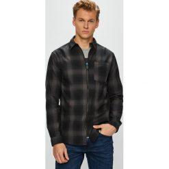 Jack & Jones - Koszula. Czarne koszule męskie Jack & Jones, w kratkę, z bawełny, z klasycznym kołnierzykiem, z długim rękawem. W wyprzedaży za 119.90 zł.