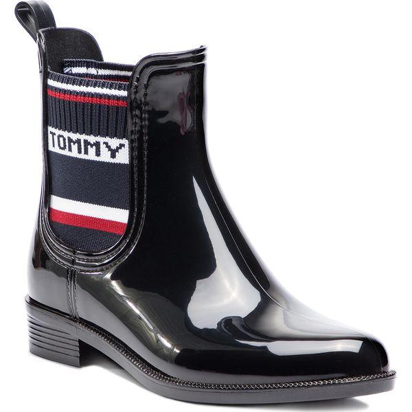 0ba07489192a7 Kalosze TOMMY HILFIGER - Tommy Elastic Rain Boot FW0FW03836 Black ...