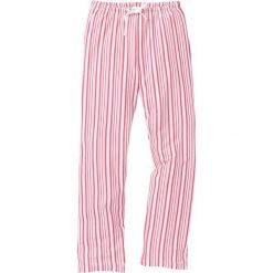 Spodnie piżamowe bonprix jasnoróżowo-matowy czerwony w paski. Piżamy damskie marki MAKE ME BIO. Za 44.99 zł.
