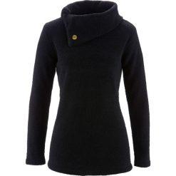 Sweter bonprix czarny. Czarne swetry damskie bonprix, z materiału, ze stójką. Za 74.99 zł.