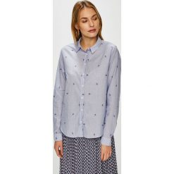 Pepe Jeans - Koszula. Szare koszule damskie Pepe Jeans, z bawełny, klasyczne, z klasycznym kołnierzykiem, z długim rękawem. Za 299.90 zł.