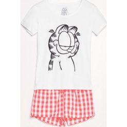 Piżama Garfield - Biały. Piżamy damskie marki bonprix. W wyprzedaży za 29.99 zł.