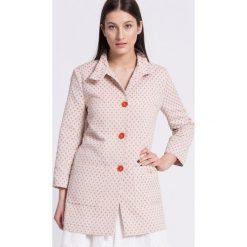 Trussardi Jeans - Płaszcz. Szare płaszcze damskie TRUSSARDI JEANS, z bawełny. W wyprzedaży za 639.90 zł.