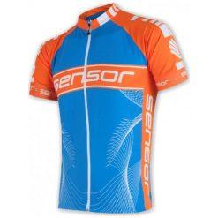 Sensor Męska Koszulka Rowerowa Cyklo Team Blue/Orange. Niebieskie koszulki sportowe męskie Sensor, z materiału, z krótkim rękawem. W wyprzedaży za 189.00 zł.