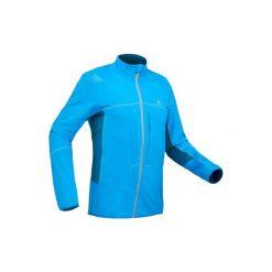 Kurtka turystyczna softshell SH900 Warm męska. Niebieskie kurtki męskie QUECHUA, na zimę, z elastanu. Za 199.99 zł.