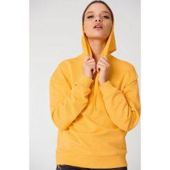 NA-KD Basic Bluza z kapturem basic - Yellow. Żółte bluzy damskie NA-KD Basic, z bawełny. Za 100.95 zł.