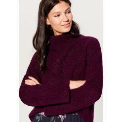Sweter z domieszką wełny - Bordowy. Czerwone swetry damskie Mohito, z wełny. Za 119.99 zł.