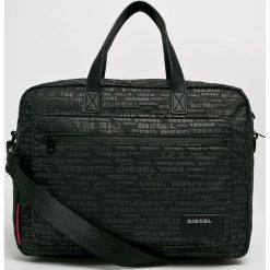 Diesel - Torba na latopa. Czarne torby na laptopa męskie Diesel, w paski, z materiału. Za 469.90 zł.
