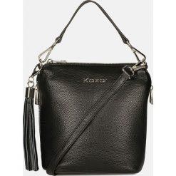 Czarna torebka przez ramię. Czarne torby na ramię damskie Kazar. Za 599.00 zł.